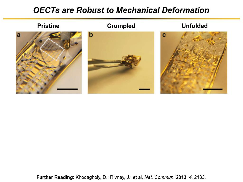 OECTs are Robust to Mechanical Deformation
