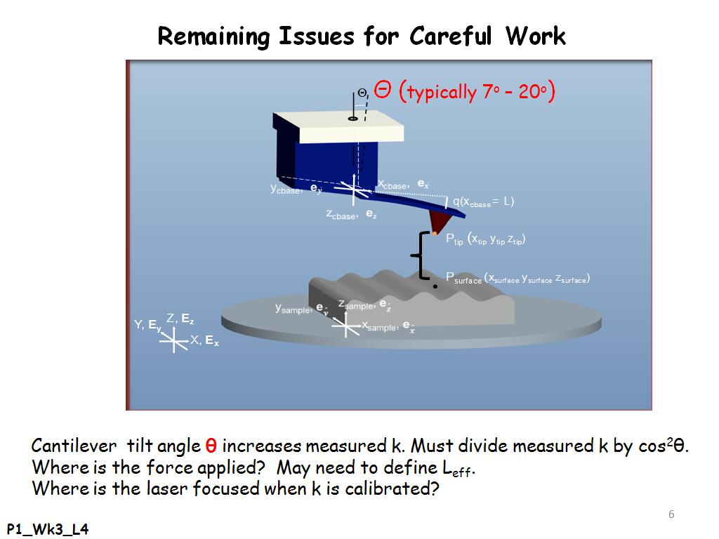 Remaining Issues for Careful Work