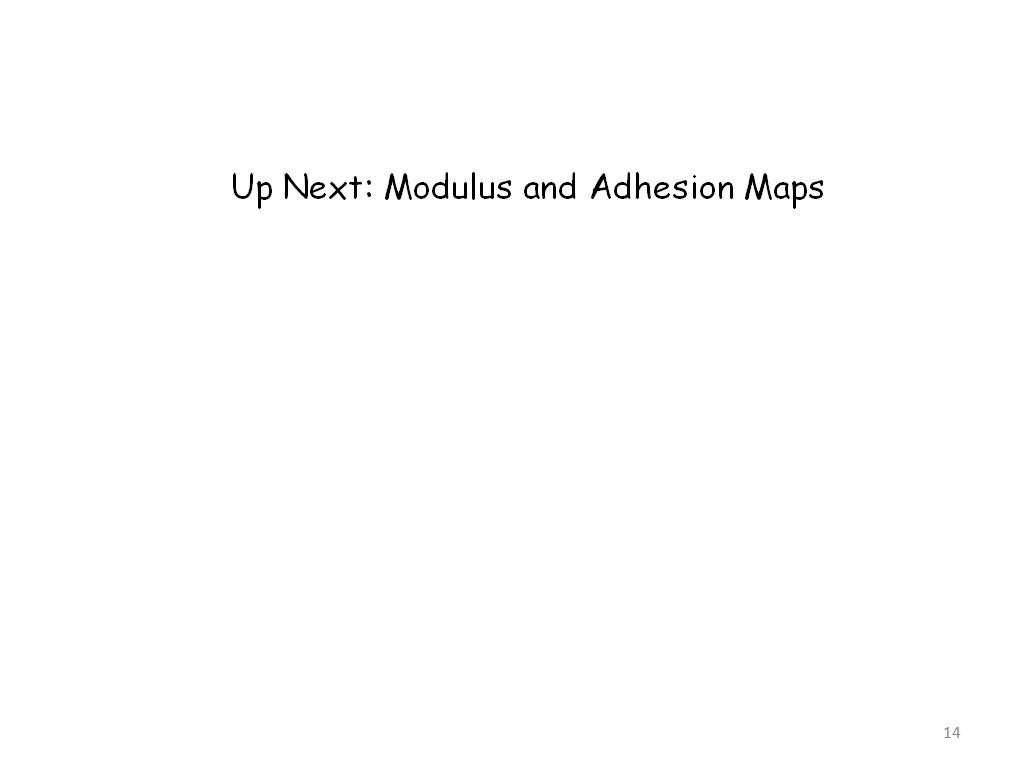 Up Next: Modulus and Adhesion Maps