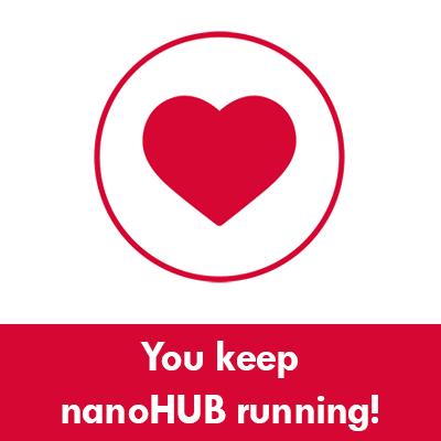 You keep nanoHUB running!