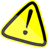 Upcoming maintenance scheduled - caution sign