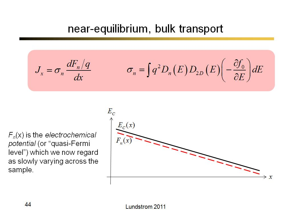 near-equilibrium, bulk transport