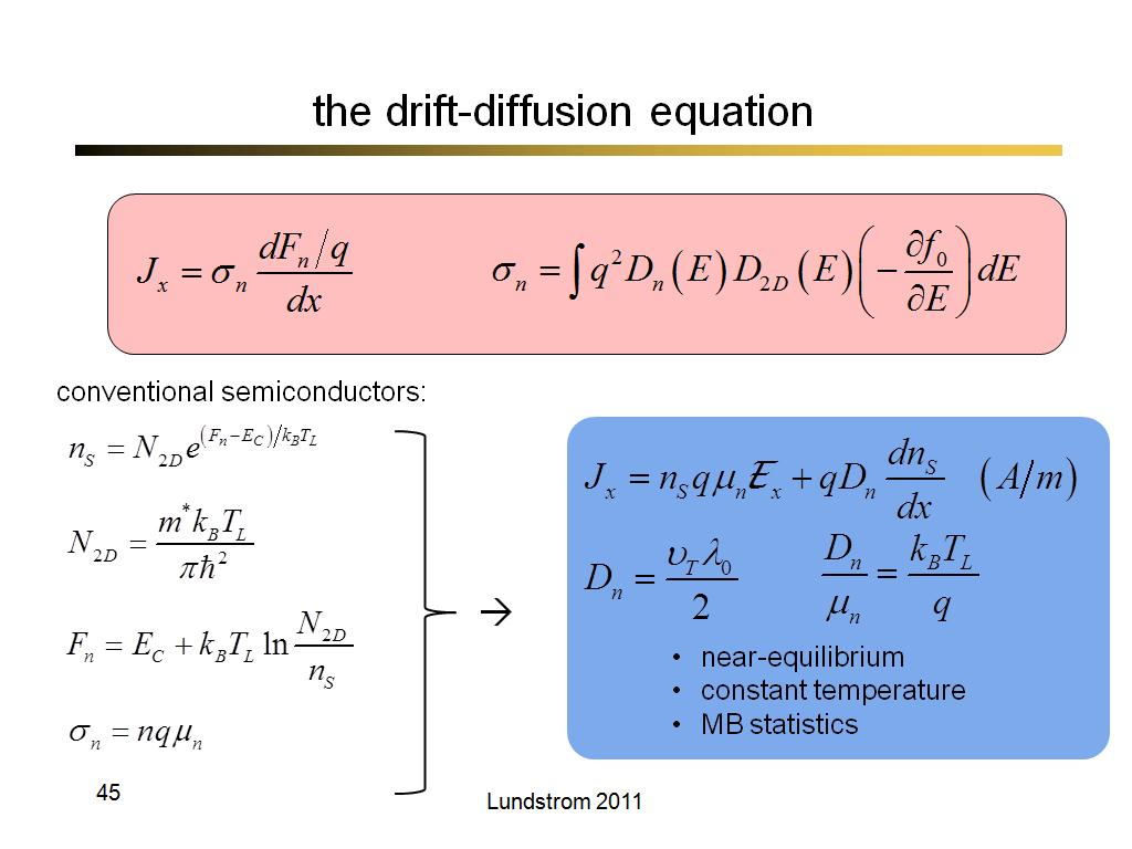 the drift-diffusion equation