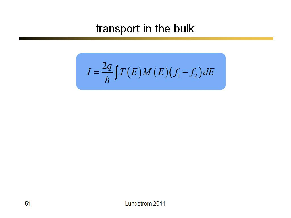 transport in the bulk