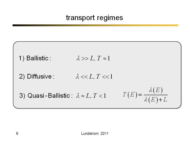 transport regimes