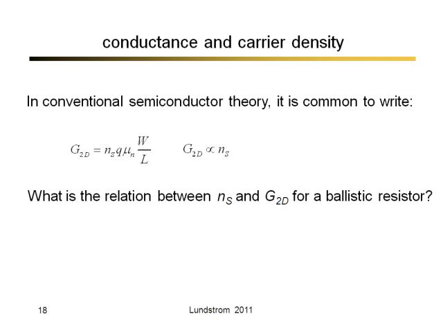conductance and carrier density