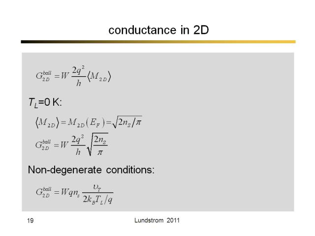 conductance in 2D