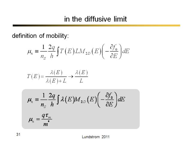 in the diffusive limit