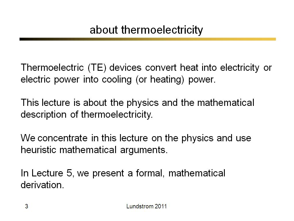 about thermoelectricity