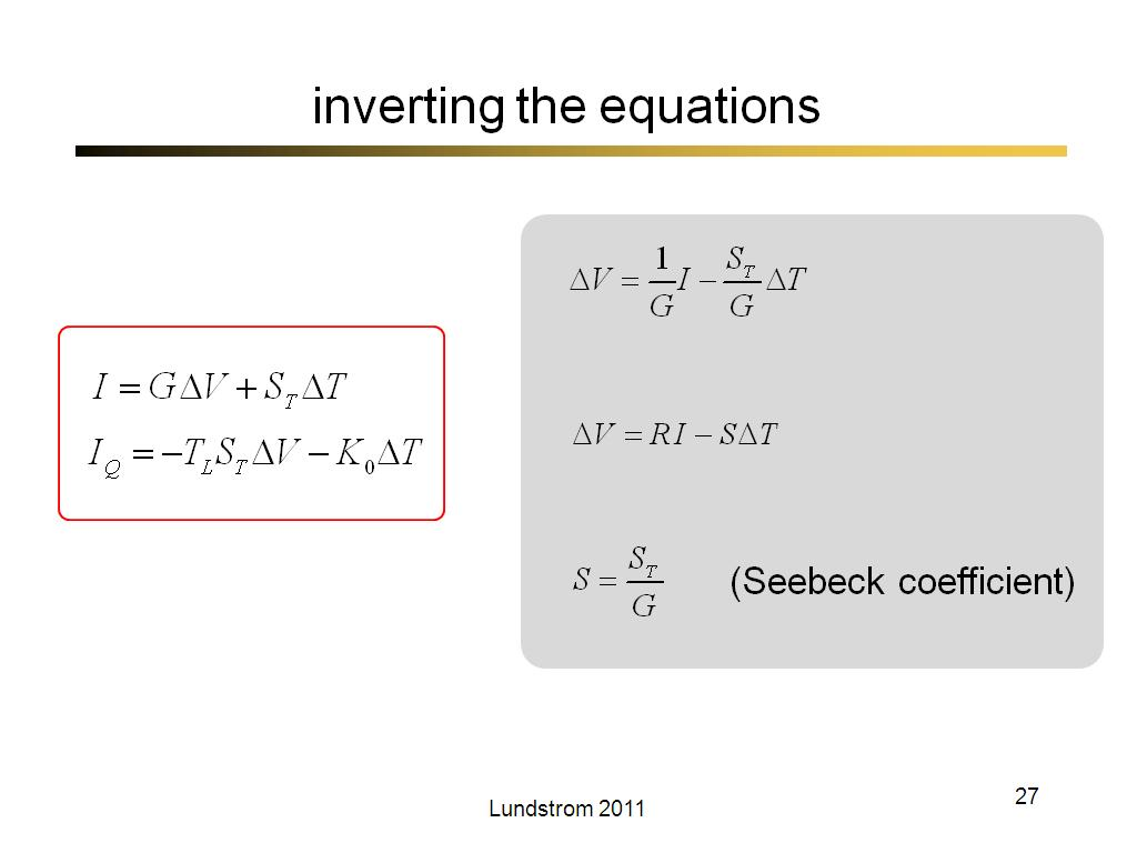 inverting the equations