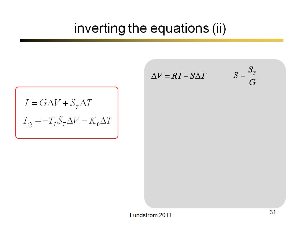 inverting the equations (ii)