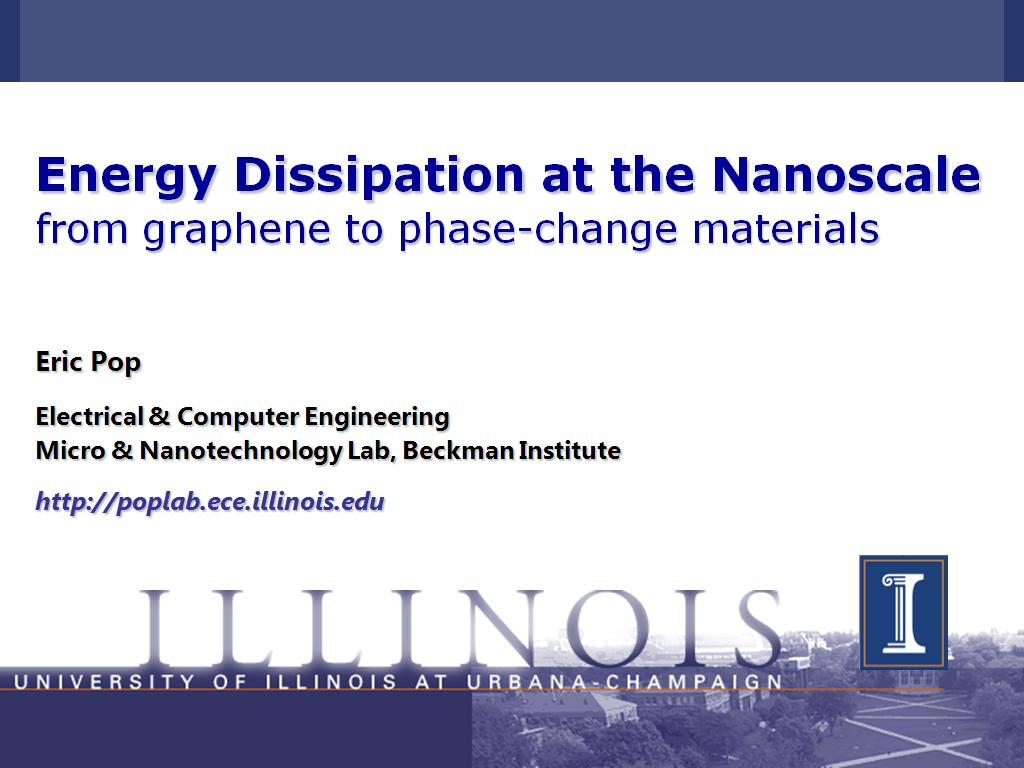 Energy Dissipation at the Nanoscale from graphene to phase-change materials