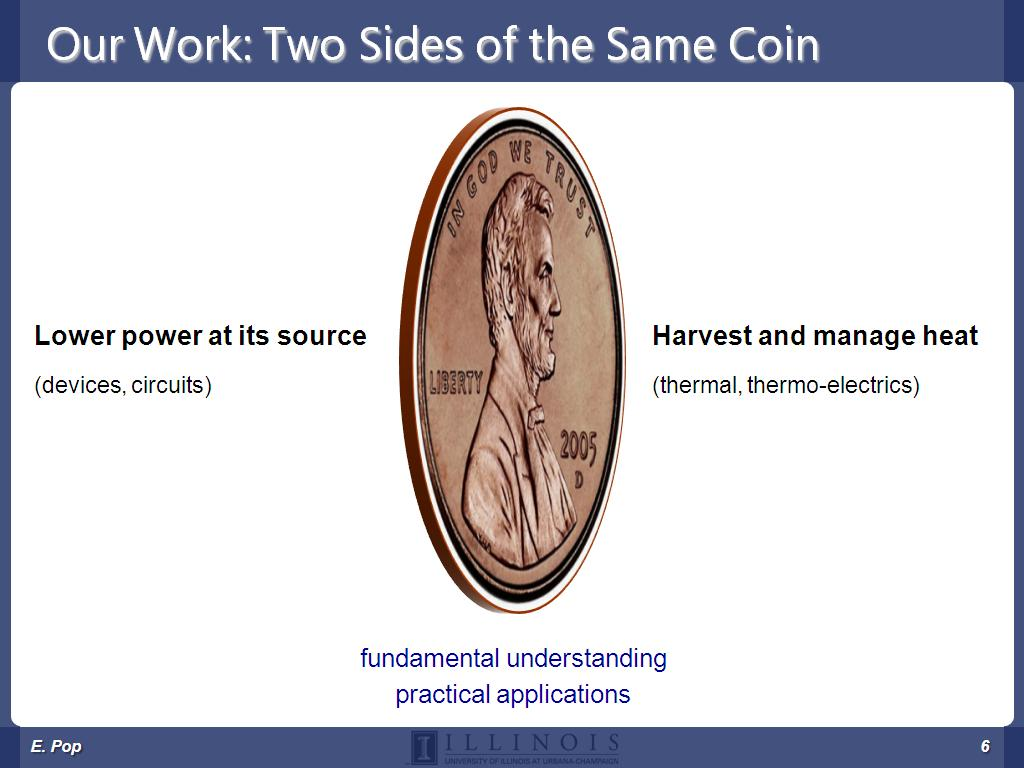 Our Work: Two Sides of the Same Coin