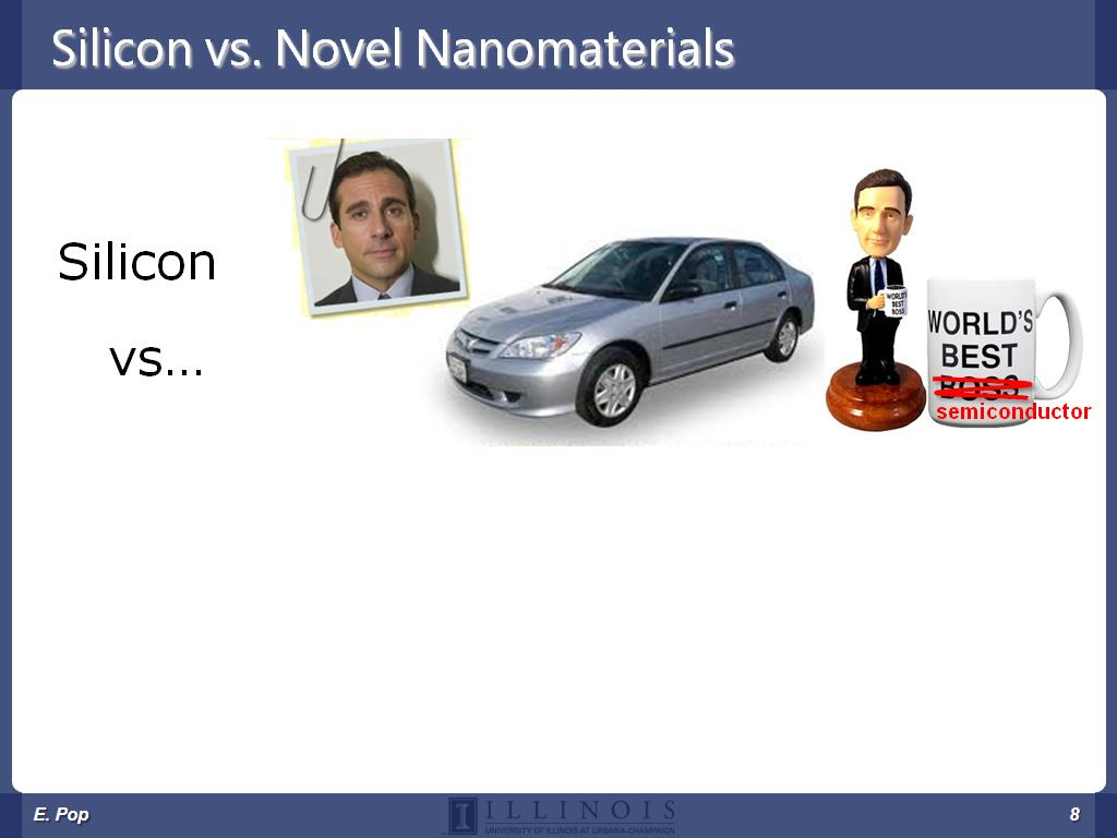Silicon vs. Novel Nanomaterials