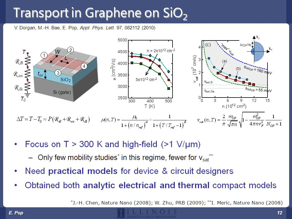 Transport in Graphene on SiO2