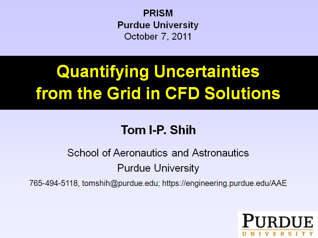 Quantifying Uncertainties from the Grid in CFD Solutions