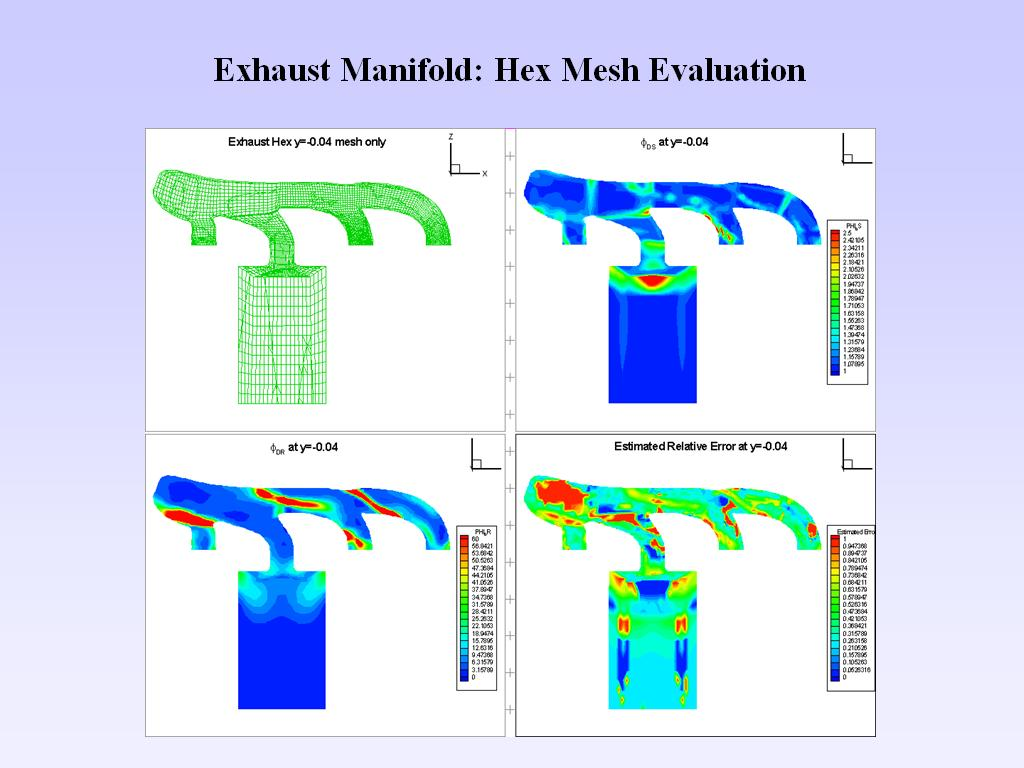 Exhaust Manifold: Hex Mesh Evaluation