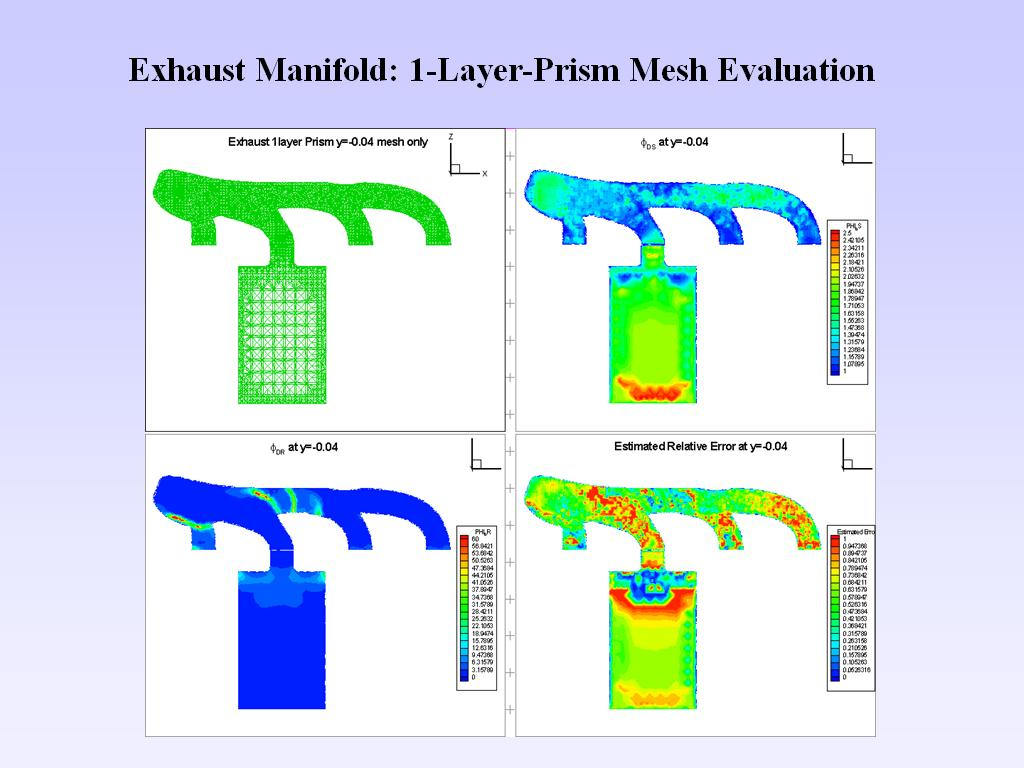 Exhaust Manifold: 1-Layer-Prism Mesh Evaluation