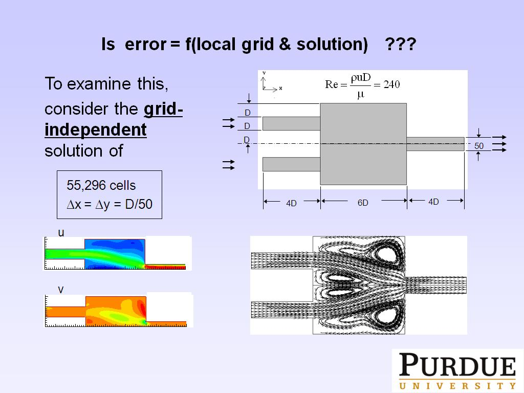Is error = f(local grid & solution) ???