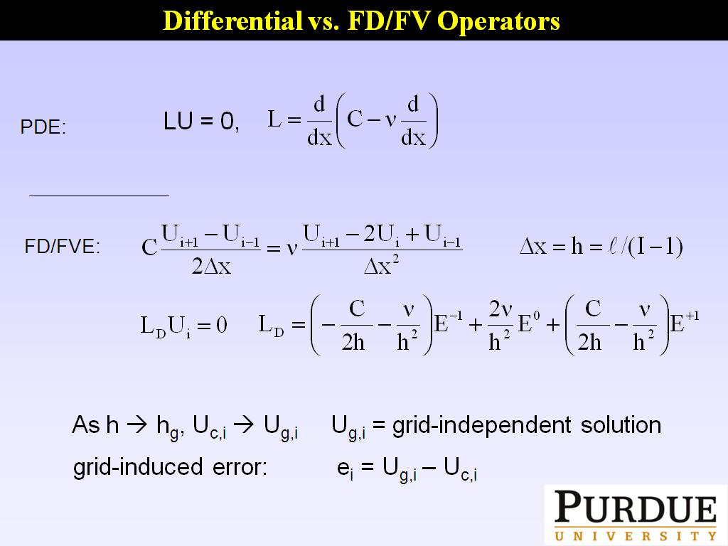 Differential vs. FD/FV Operators