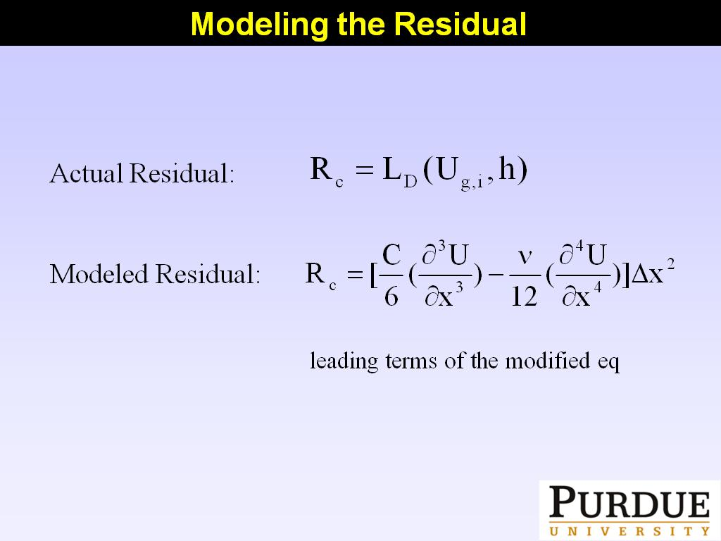 Modeling the Residual