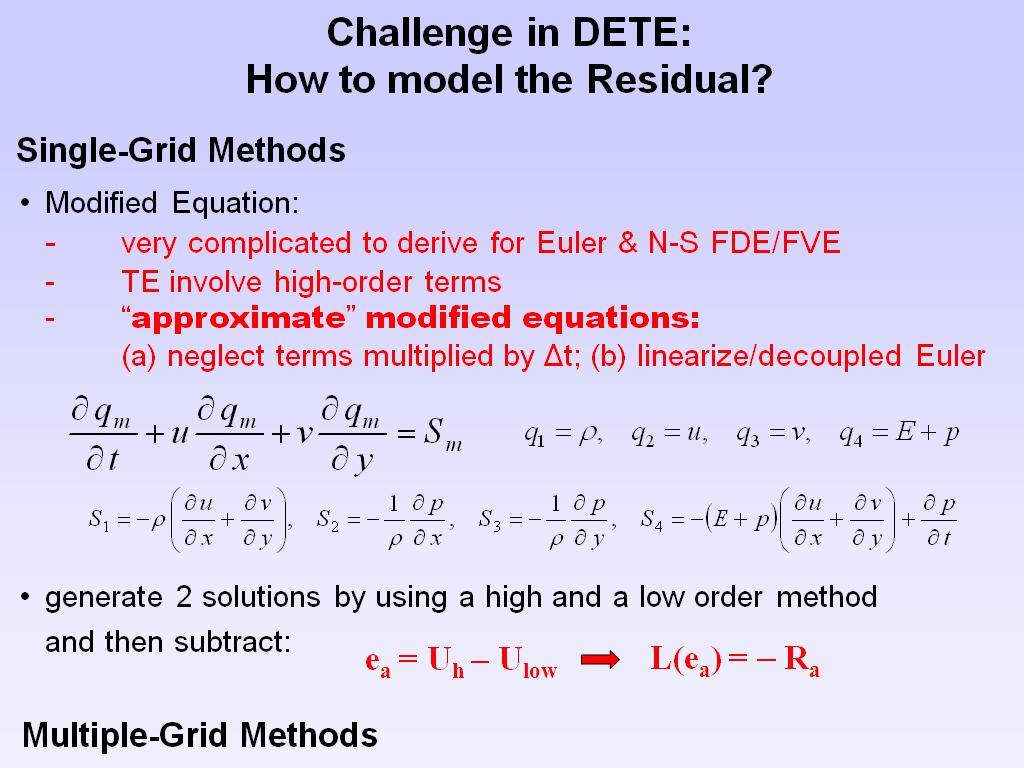 Challenge in DETE: How to model the Residual?