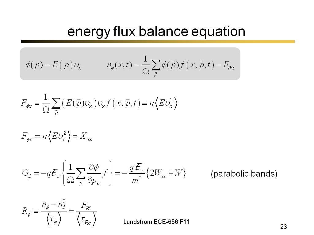 nanoHUB org - Resources: ECE 656 Lecture 31: Balance