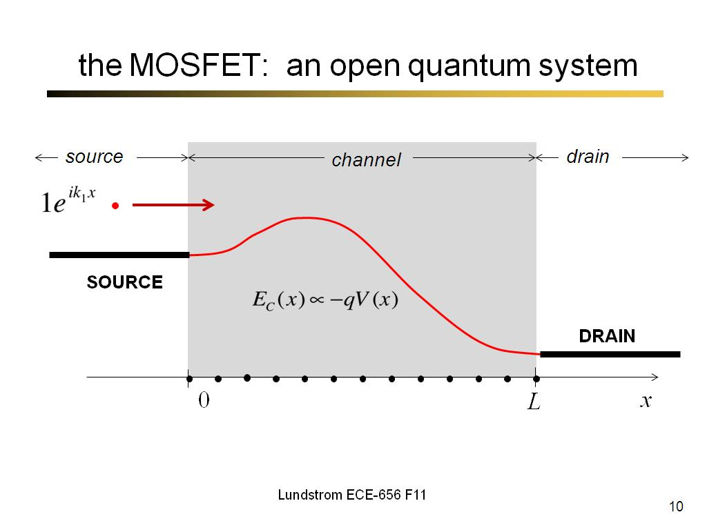 the MOSFET:  an open quantum system