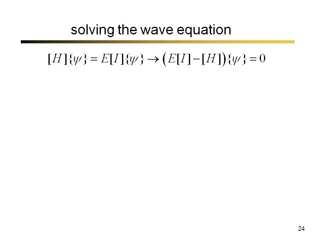 solving the wave equation