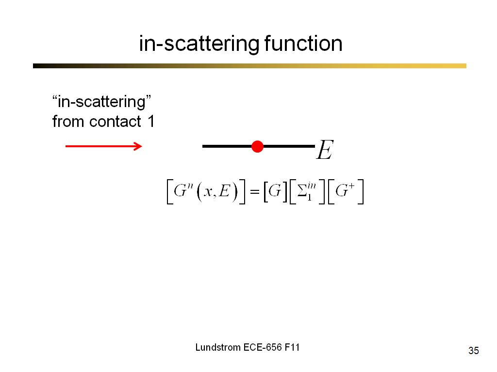 in-scattering function