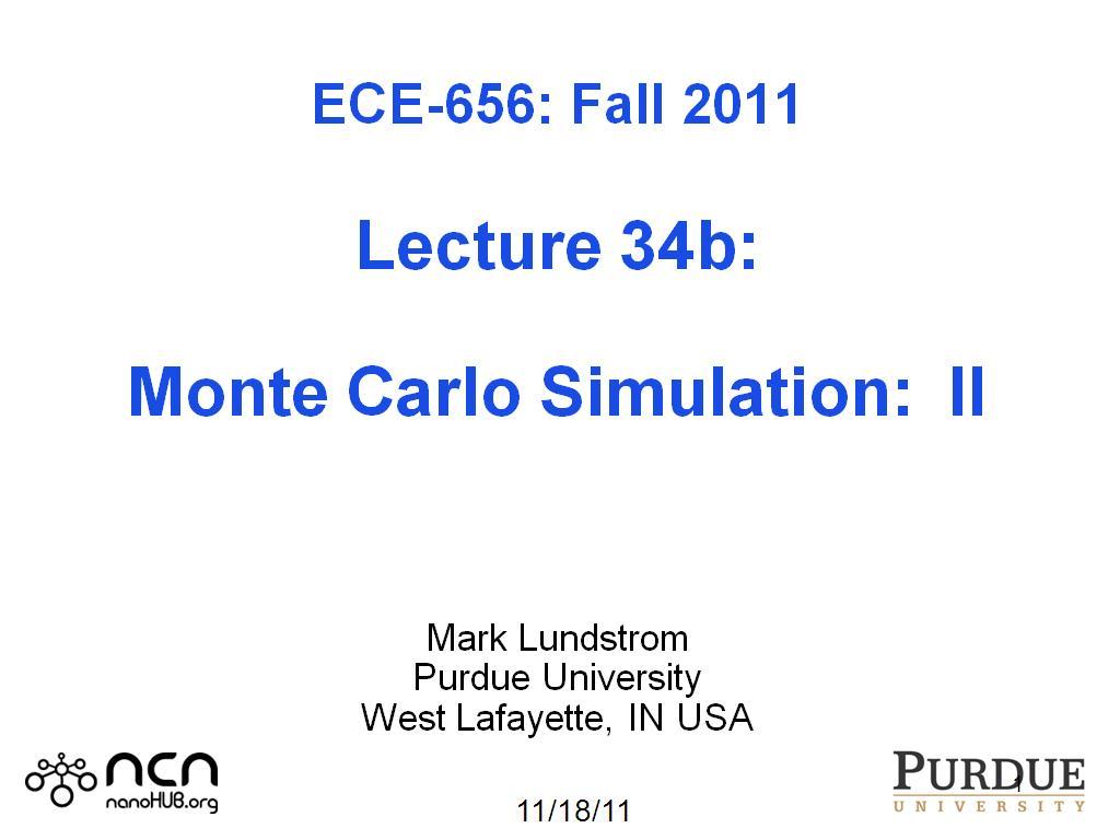 Resources Ece 656 Lecture 34b Monte Carlo