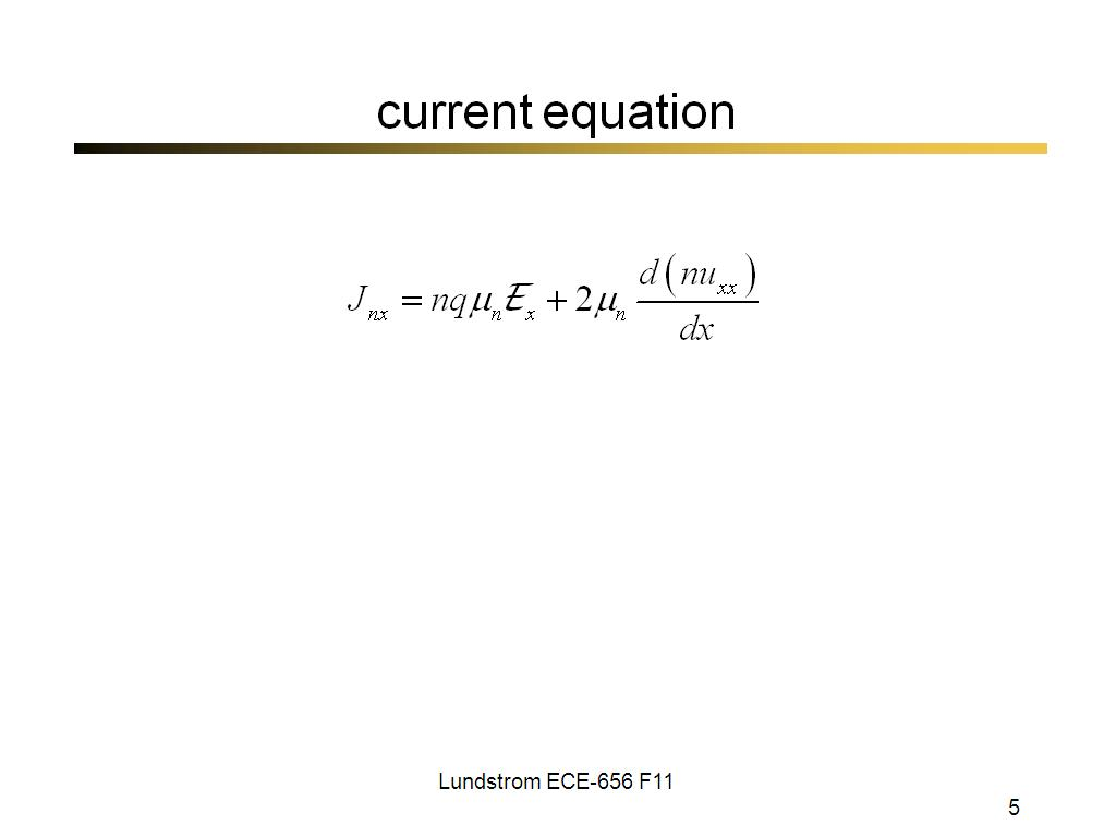 current equation