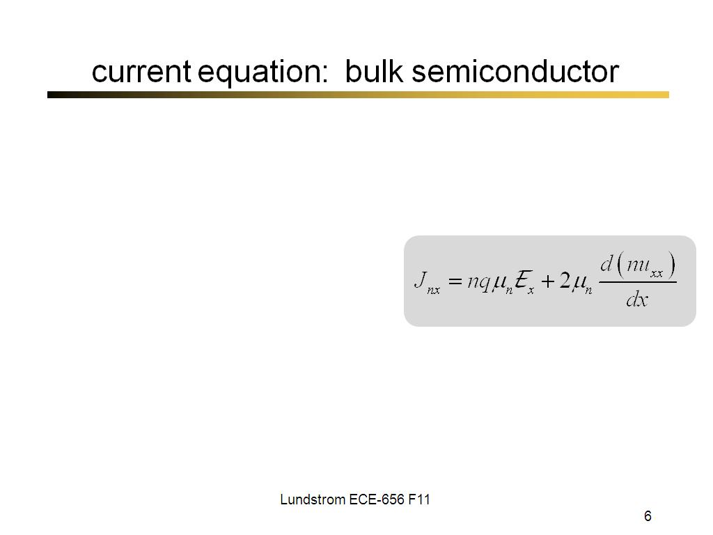 current equation: bulk semiconductor