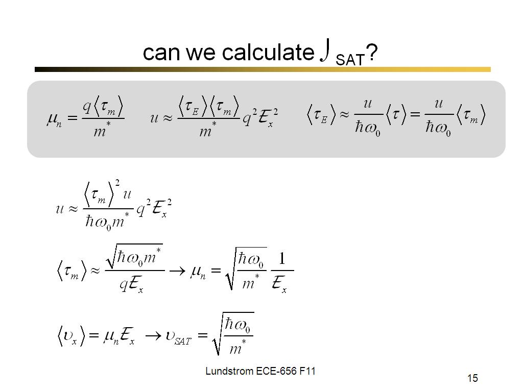 can we calculate υSAT?