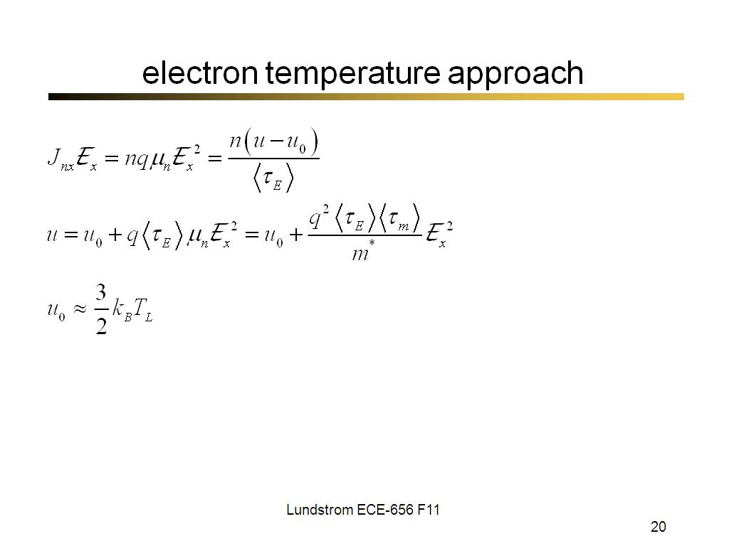 electron temperature approach