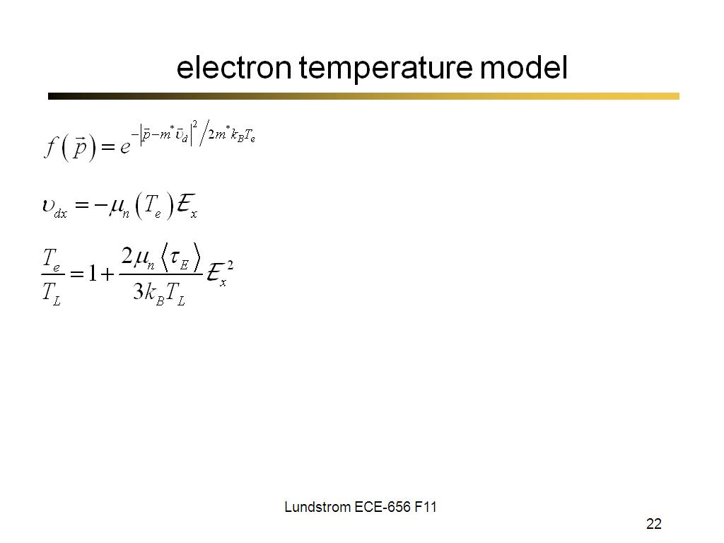 electron temperature model