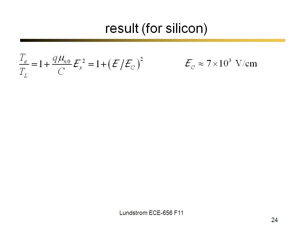 result (for silicon)