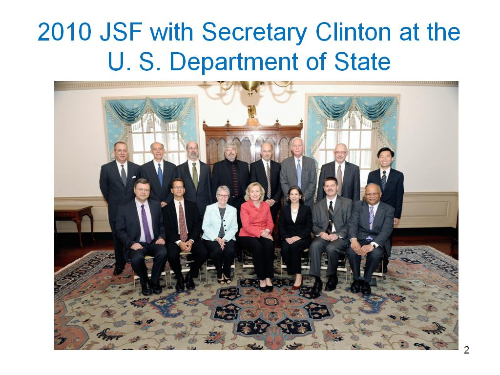 2010 JSF with Secretary Clinton at the U. S. Department of State