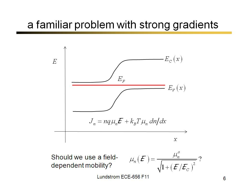a familiar problem with strong gradients