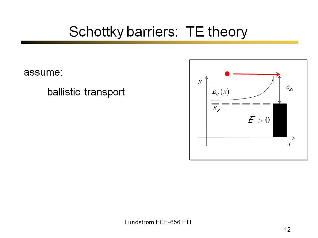 Schottky barriers: TE theory