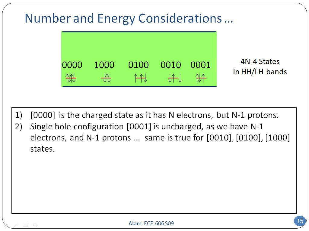 Number and Energy Considerations …