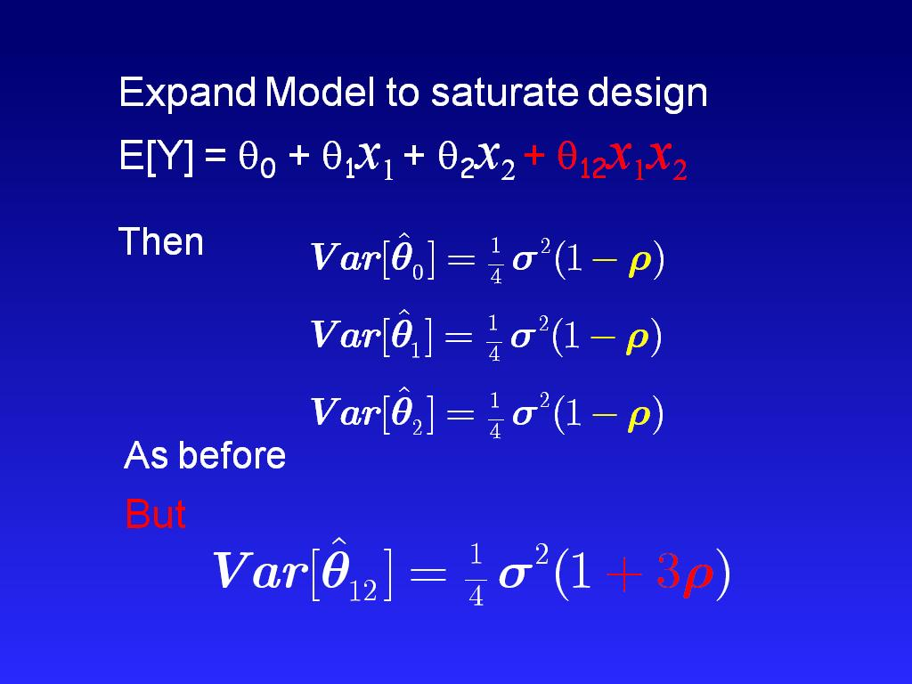 Expand Model to saturate design