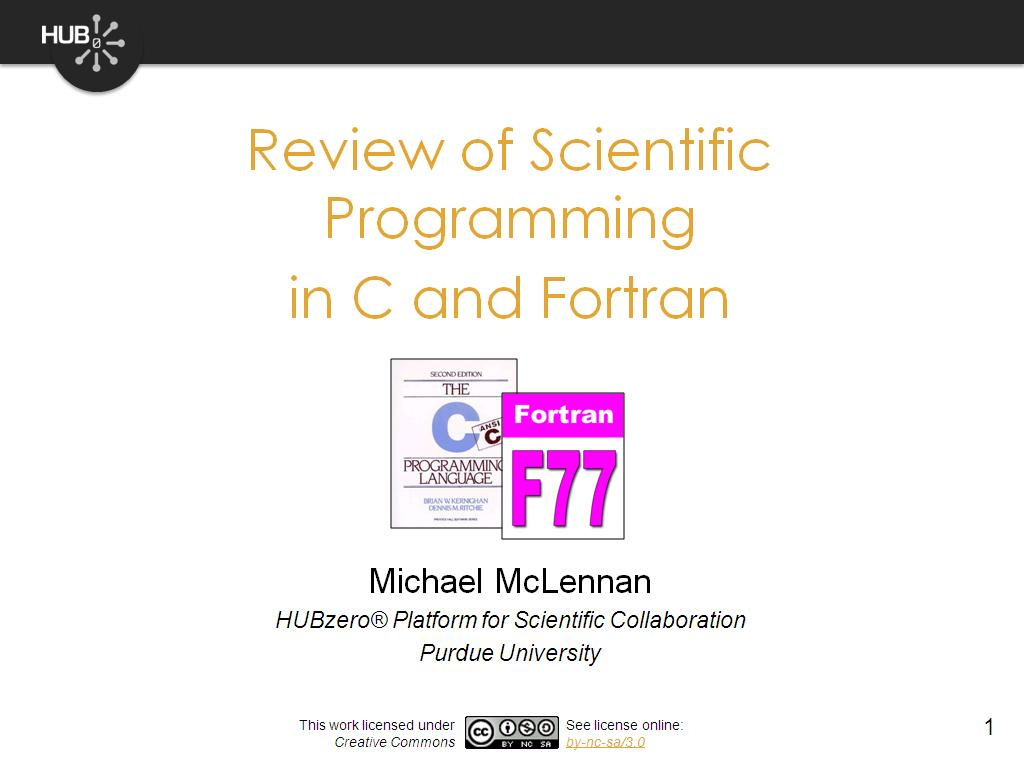 nanoHUB org - Resources: Rappture Bootcamp 2 1: Review of Scientific