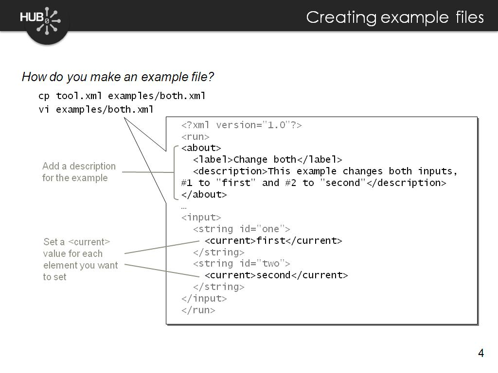 Creating example files