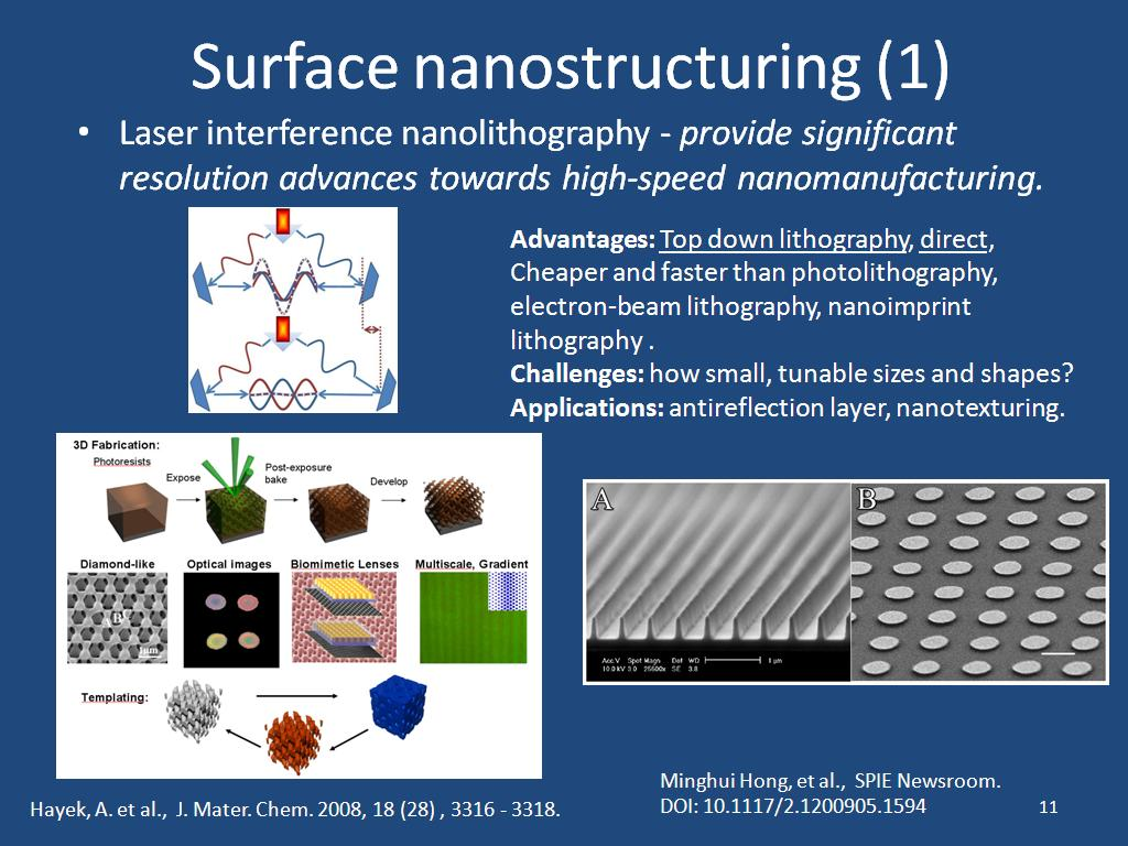 Surface nanostructuring (1)