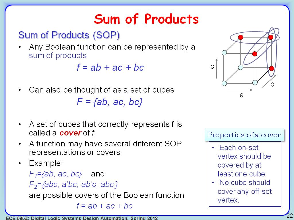 nanoHUB org - Resources: ECE 595Z Lecture 4: Advanced Boolean