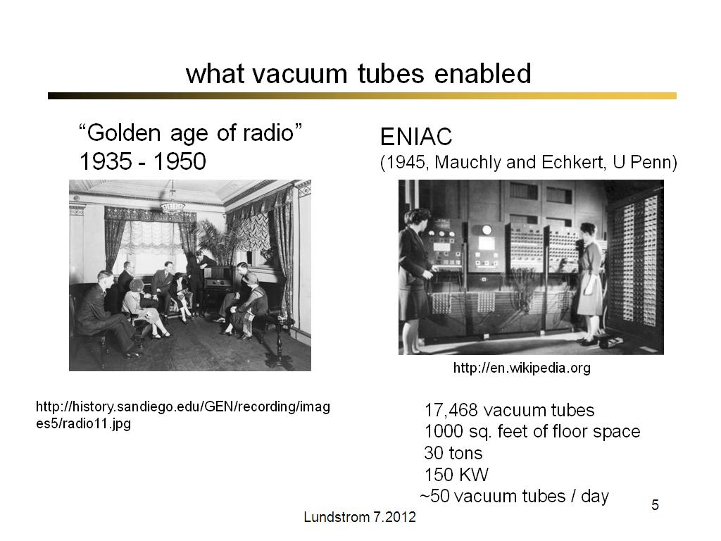 what vacuum tubes enabled