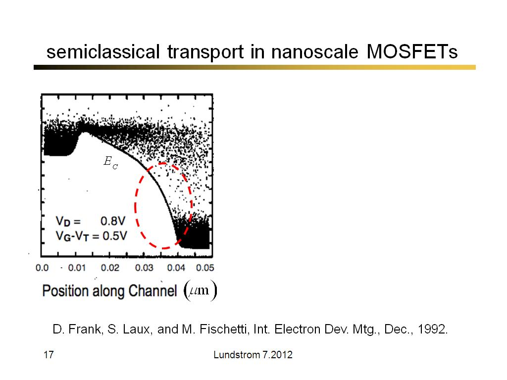 semiclassical transport in nanoscale MOSFETs