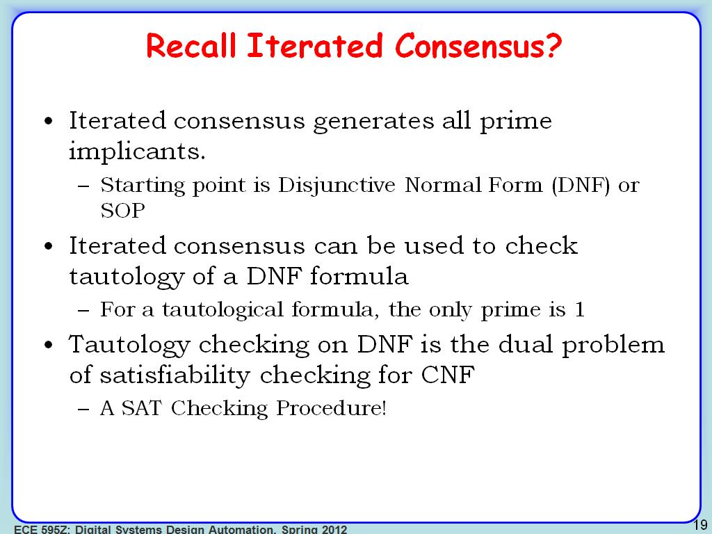 Recall Iterated Consensus?