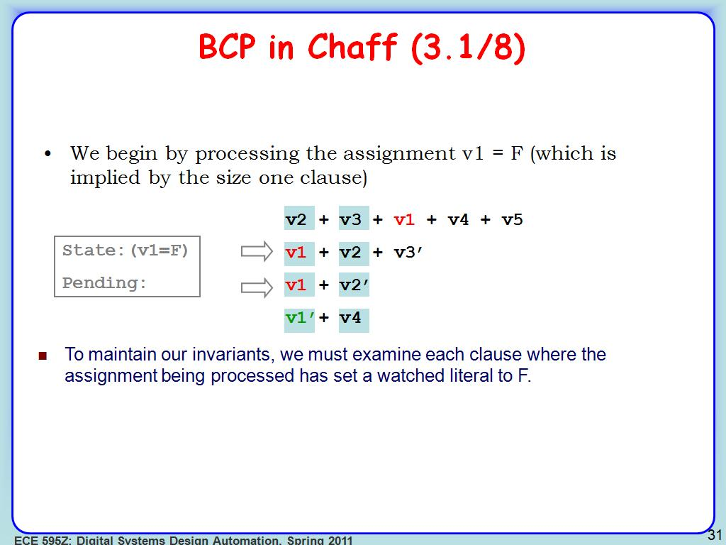 BCP in Chaff (3.1/8)